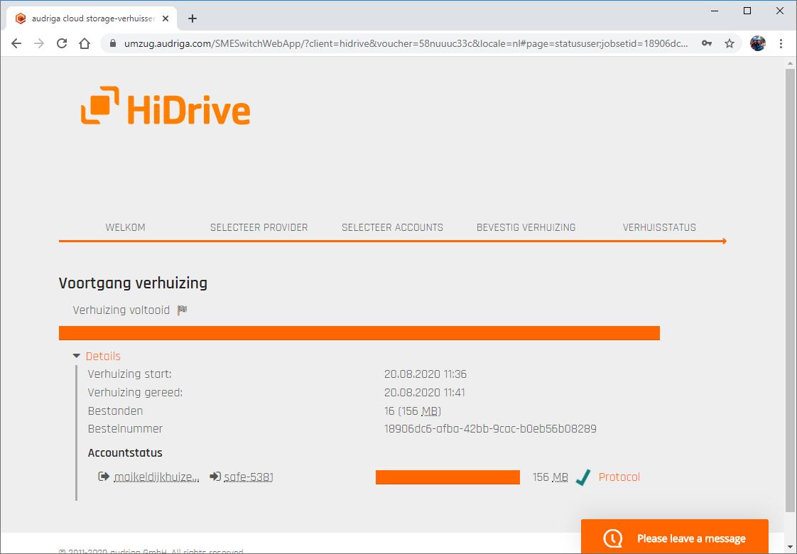 3 Overstappen STRATO HiDrive