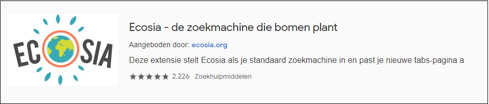 Ecosia extensie