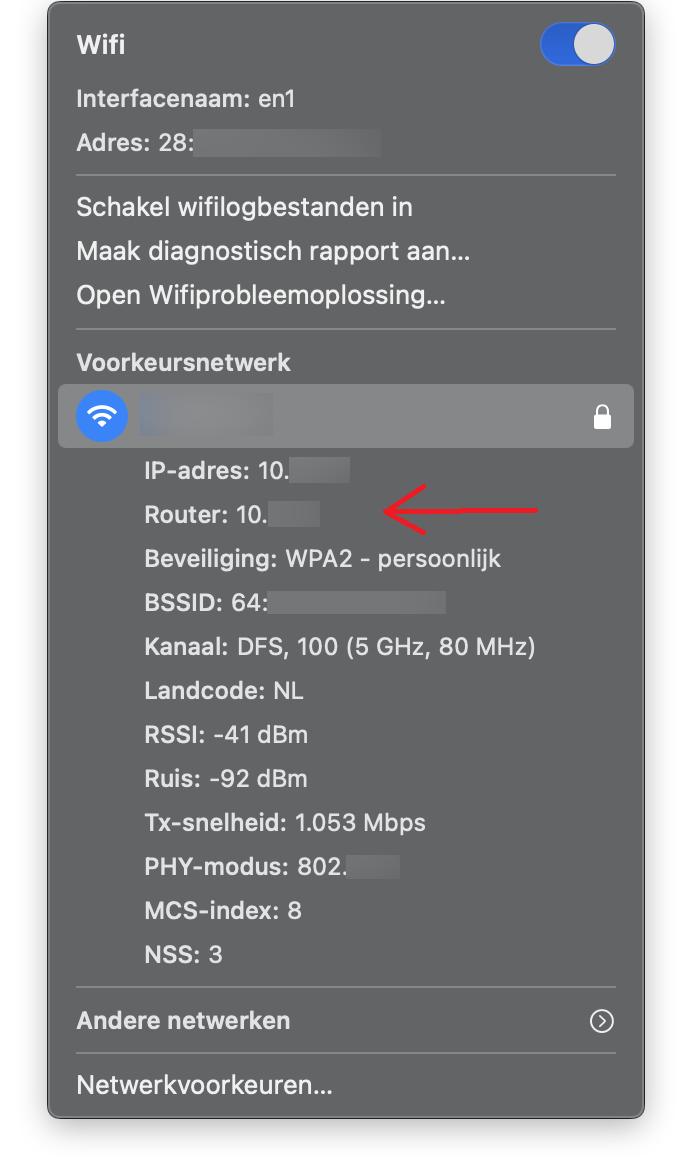 Mac 2 ip adres