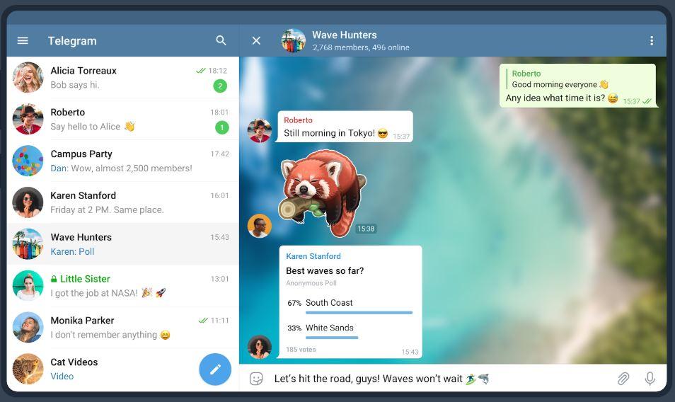 Telegram tablet