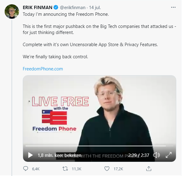 Tweet Freedom Phone