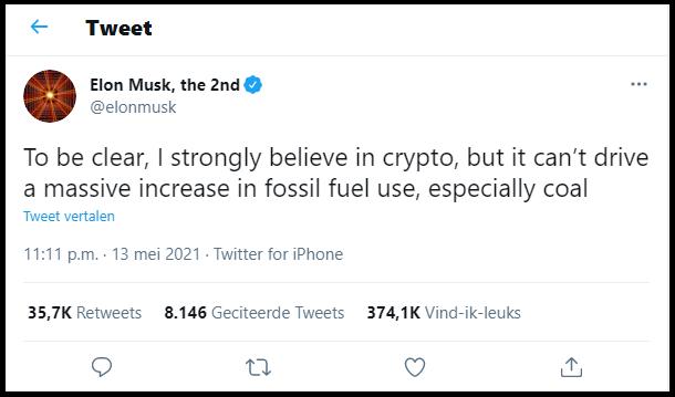 Tweet musk crypto