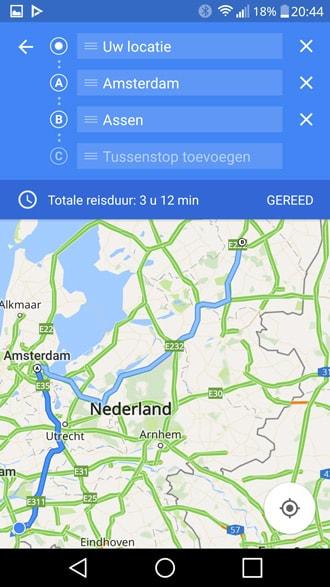 Google Maps via navigatie