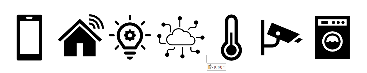 domoticabeeld pictogrammen