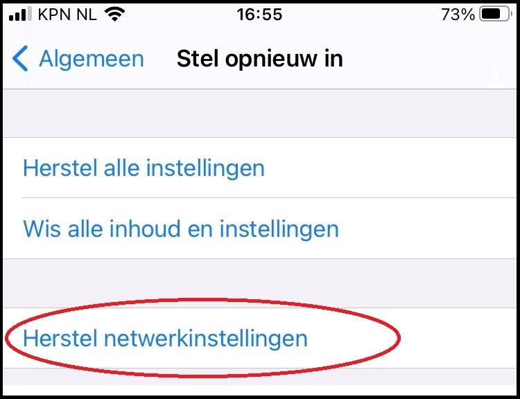 iphone netwerkinstellingen resetten2