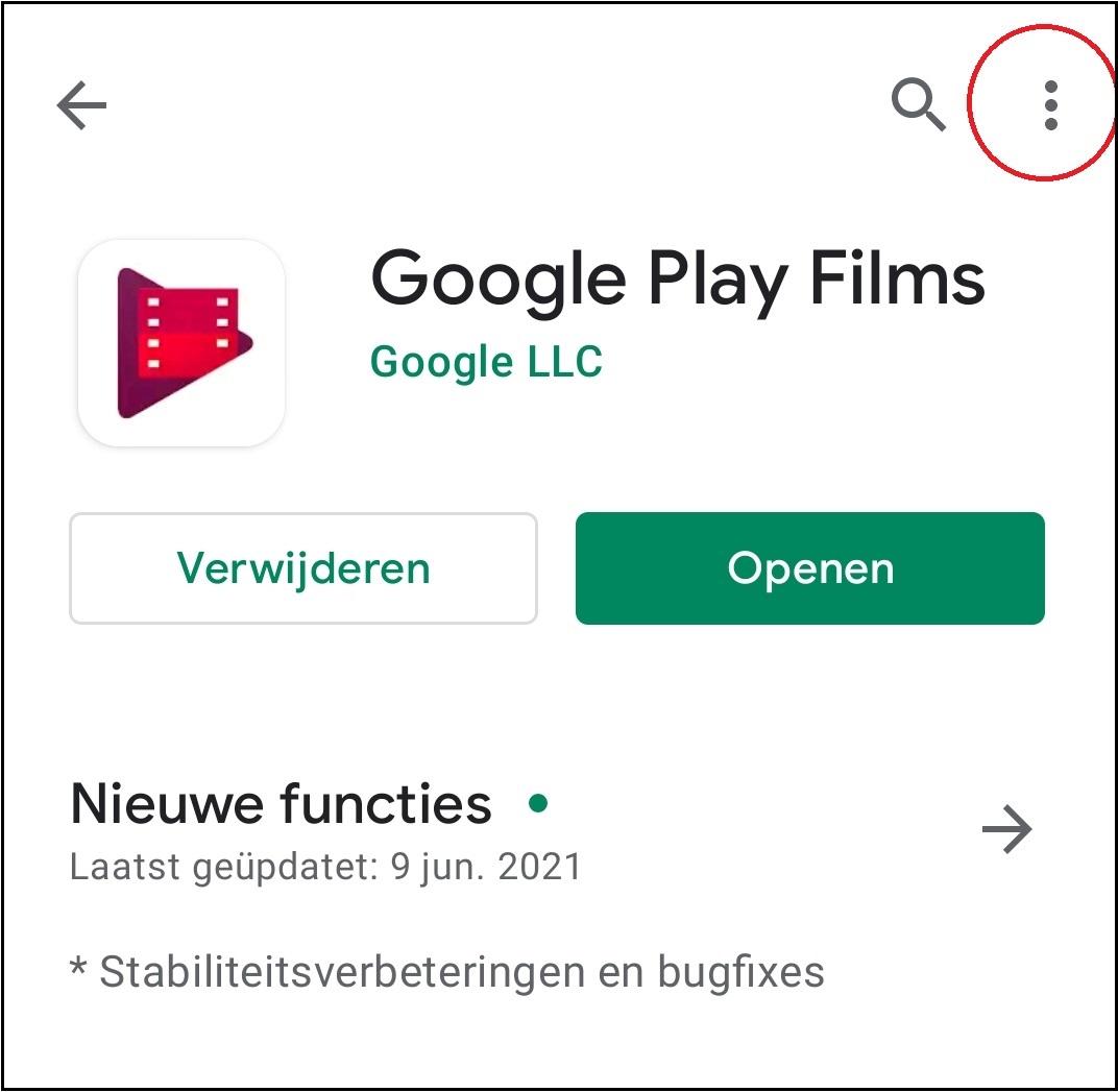 vvdw android apps updaten 10