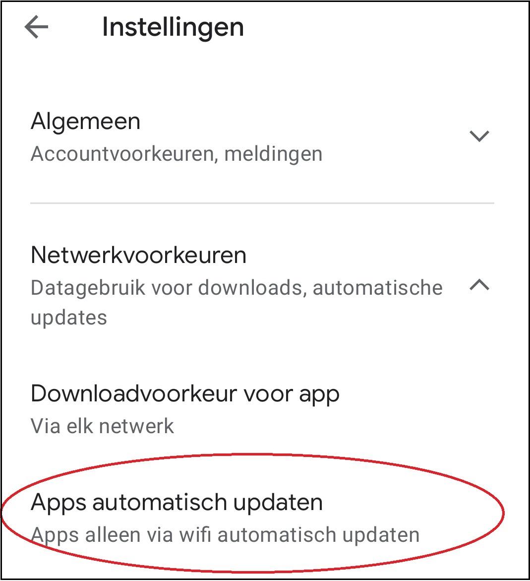 vvdw android apps updaten 7