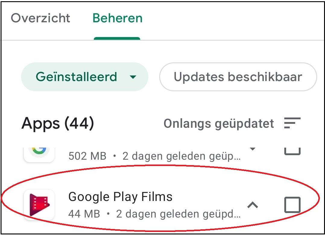vvdw android apps updaten 9a